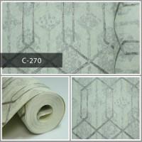 Wallpaper Sale Ready Polygonal Abu-abu 53CM X 10M