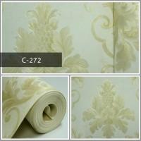 Wallpaper Sale Ready Klasik Batik Soft Krem Putih 53CM X 10M