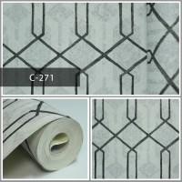 Wallpaper Sale Ready Polygonal Hitam Putih 53CM X 10M