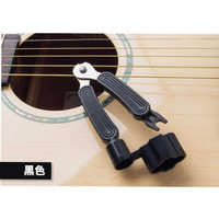 Guitar Tool 3 in 1 String Winder + Bridge Pins Puller + String Cutter - Hitam