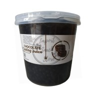Topping Popping Boba Coklat Coating Juice / Boba Chocolate Taiwan