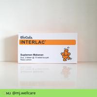 Interlac tablet kunyah Rasa Lemon isi 30