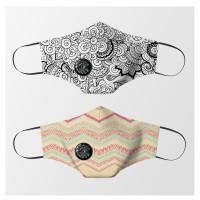Masker kain Valve filter non medis Unisex dewasa - Batik And Tribal