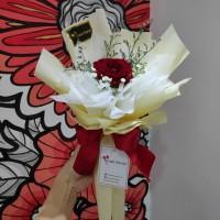 Hand Bouquet Buket Wisuda Bunga Mawar Setangkai Premium