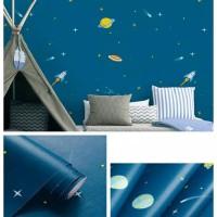 wallpaper dinding sticker -antariksa 45 cm x 10 m