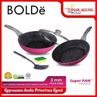 BOLDE Super Pan Panci Set lapis Granite Coating 5pcs
