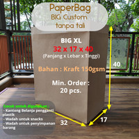 Paper Bag / Tas Kertas / Paperbag Kantong Belanja Besar Kraft Custom