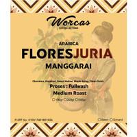 WORCAS Kopi Arabica Flores Juria Manggarai 100 Gram Medium Roast