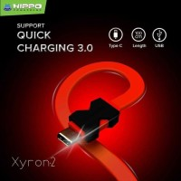 Hippo Kabel Data XYRON 2 Data Cable Type C 100cm Kabel Data Charger