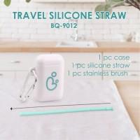 Babyqlo Travel Silicone Straw Set Sedotan silikon BQ SP8004