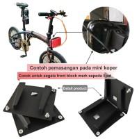 Adaptor Bracket Front Block tas sepeda lipat