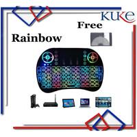 RAINBOW MARQUEE Keyboard Air Mouse i8 Mini Keypad Wireless Touchpad - RAINBOW