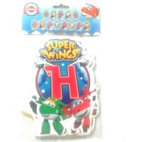 banner bunting flag hbd jumbo super wings superwings