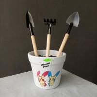 SEKOP MINI 1 set - Skop Besi Alat Kebun Cungkil Taman Garden Tools