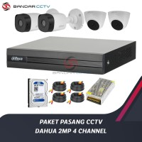 PAKET PASANG KAMERA CCTV DAHUA 2MP 4 CHANNEL