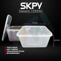 SKPY Food Container SQUARE 1500ml (25pcs)