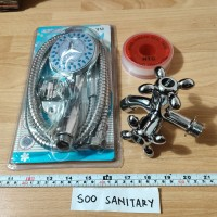 [Paket Shower] Kran GZR + Hand Shower Yu + Seal Tape Jumbo