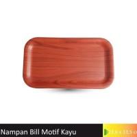 Nampan Tagihan Bill Tray / Bon / Nota Motif Kayu ukuran 13,5x23,5cm