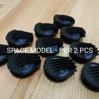 Katup Udara Masker Valve Respirator KN95 Space Hitam - Per 2 Pcs
