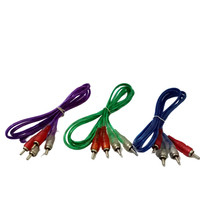 Kabel Mic Transparan RCA 2-2 1.5m