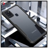 Case Samsung A21s Shockproof Armor Transparent Premium Hardcase