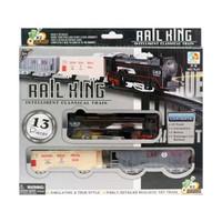 Kereta Api Rail King Hitam 13 pcs - Mainan dan Koleksi Anak