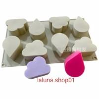 Cetakan Sabun Handmade bahan Silikon 8 Lubang