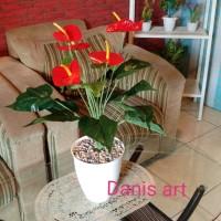 Set Anthurium bunga/ anthurium sedeng/ anthurium artificial/ bunga