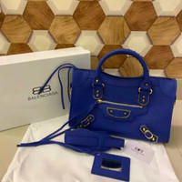TAS BALENCIAGA CITY METALIC EDGE BASIC LEATHER MIRROR QUALITY FULL SET