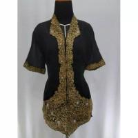 Promo Kebaya Encim Modern Sari Import Kombinasi Brukat Bordir Hitam
