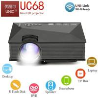 LED Projector Unic UC68 1800 Lumens WiFi 1080P Proyektor UC68 Wireless