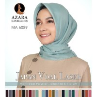 Hijab/Jilbab segi empat VOAL LASER CUT AZARA/Kerudung Voal Polos LC