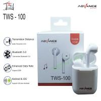 EARPHONE / HEADSET / HANDSFREE BLUETOOTH ADVANCE TWS-100 ORIGINAL