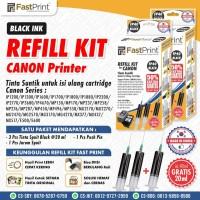 Tinta Suntik Fast Print Refill Hitam Black FP40 Printer Canon