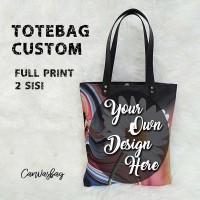 Totebag CUSTOM Tote Bag Kanvas FULL PRINT Sublim 2 SISI