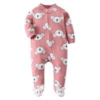 Sleepsuit Bayi Tutup Kaki Jumper Jumpsuit Bayi Laki Laki Perempuan - Cute Koala, 3-6 Bulan