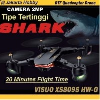 Drone Murah Visuo Battle SHARK XS809S with 20minutes Flight 100% Ori