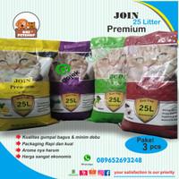 PROMO!!! pasir kucing join 25 ltr paket(3 karung)setara top cat litter