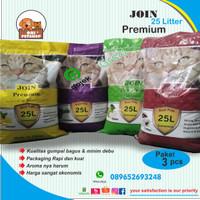 TERMURAH GRAB/GOJEK pasir kucing join premium 25 ltr paket (3 karung )