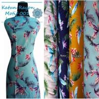 Kain Katun Rayon Premium Motif/Cotton Rayon - Motif 001(Per 0,5 Meter)