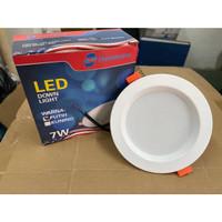 lampu downlight panel LED 5w/7w/9w bulat inbow down light panel Murah - 7watt