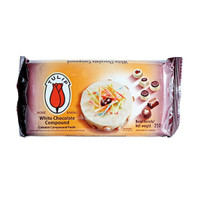 Tulip White Chocolate Compound 250 gr - Cokelat Compound Putih