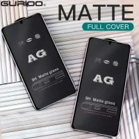 REDMI 9 9A 9C TEMPERED GLASS MATTE FROSTED FULL COVER ANTI GORES KACA