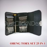 Obeng TORX Set Taffware 25 IN 1 Untuk Reparasi Iphone 4 5 6 Plus