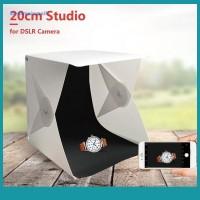 Sos ELE Kotak Lampu LED Mini Dual Studio Ukuran Kecil Kualitas