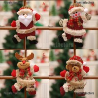 Ornamen Boneka Santa Claus Snowman Rusa untuk Dekorasi Natal