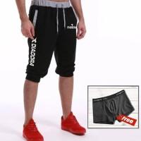 Celana Jogger Training Pendek Pria Cowok Diadora Hitam - Hitam, M
