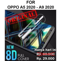 Oppo A5 2020 - A9 2020 full layar cover not tempered glass HYDROGEL