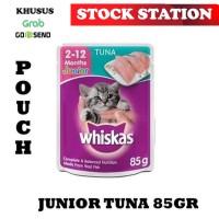 Whiskas Pouch Junior Tuna 85gr (GRAB/GOSEND)