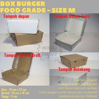 Paper lunch box / Lunch box / Paper box / Box Burger size M 12x12x5